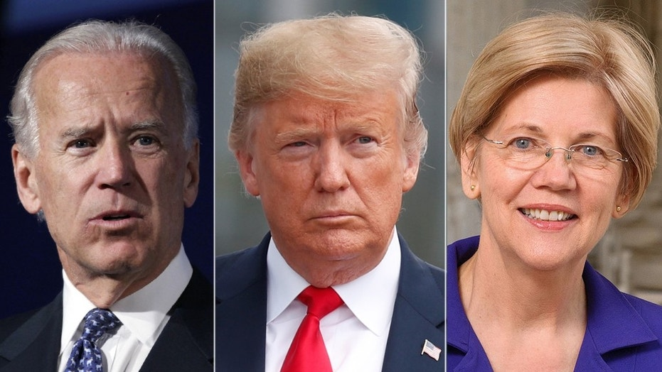President Trumps said in a recent interview he doesn't see any potential Democratic challenger, such as former Vice President Joe Biden and Sen. Elizabeth Warren.