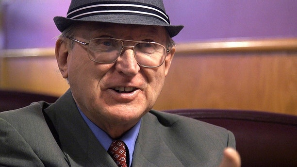 """In this Feb. 2, 2018 photo from a video frame grab shows Arthur Jones. Jones, an outspoken Holocaust denier is likely to appear on the November ballot as the Republican nominee for a Chicago-area congressional district. Jones of Lyons is the only Republican candidate in the March 20, 2018, primary for the 3rd Congressional District. Jones calls the Holocaust """"the biggest, blackest lie in history."""" He says he's a former leader of the American Nazi Party and now leads a group open to """"any white American citizen of European, non-Jewish descent."""" (Marcus DiPaola/Chicago Sun-Times via AP)"""