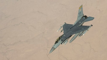 A U.S. Air Force F-16 Fighting Falcon banks away after receiving in-flight fuel from a KC-135 Stratotanker assigned to the 28th Expeditionary Air Refueling Squadron during an aerial refueling mission in support of Operation Inherent Resolve over Iraq, June 26, 2018. The 28th EARS is assigned to the 379th Expeditionary Operations Group and supports various operations in countries such as Iraq, Syria and Afghanistan. In conjunction with partner forces, Combined Joint Task Force - Operation Inherent Resolve (CJTF-OIR) defeats ISIS in designated areas of Iraq and Syria and sets conditions for follow-on operations to increase regional stability. (U.S. Air Force photo by Staff Sgt. Keith James)