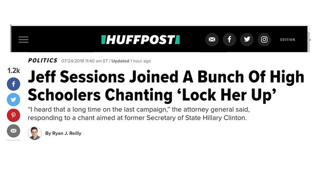 Media reports on Sessions