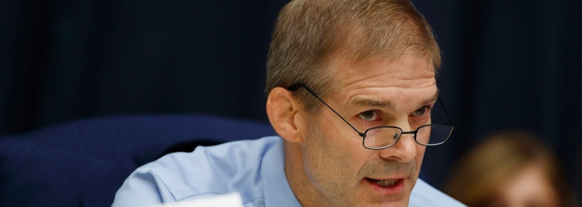 "FILE - In this Thursday, July 12, 2018, file photo, Rep. Jim Jordan, R-Ohio, questions FBI Deputy Assistant Director Peter Strzok during the House Committees on the Judiciary and Oversight and Government Reform hearing on ""Oversight of FBI and DOJ Actions Surrounding the 2016 Election,"" on Capitol Hill in Washington. Jordan, who coached wrestling at Ohio State University, has been interviewed by the law firm investigating allegations that a now-dead team doctor sexually abused male athletes there decades ago. Jordan's spokesman says the congressman spoke Monday, July 16, 2018, with the firm looking into allegations against Dr. Richard Strauss and how the school responded to any complaints about Strauss. (AP Photo/Evan Vucci, File)"