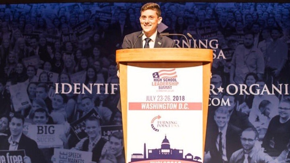 Conservative champion: Kyle Kashuv has defended the Second Amendment after surviving a deadly school shooting.