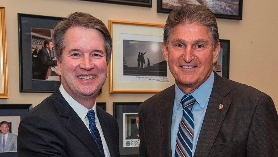 Supreme Court nominee Brett Kavanaugh meets with West Virginia Democratic Sen. Joe Manchin on Monday, in the first such meeting by a Democratic senator.