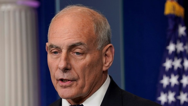 White House Chief of Staff John Kelly speaks during a daily briefing at the White House in Washington, U.S., October 19, 2017. REUTERS/Yuri Gripas - RC13BDA309E0