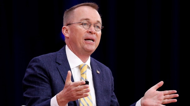 Director of the Office of Management and Budget Mick Mulvaney speaks at the Conservative Political Action Conference (CPAC) at National Harbor, Maryland, U.S., February 24, 2018.      REUTERS/Joshua Roberts - RC1CD5DCF5A0
