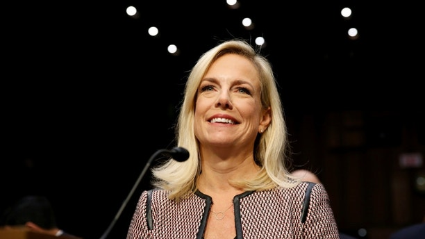 "U.S. Secretary of Homeland Security Kirstjen Nielsen testifies to the Senate Judiciary Committee on ""Oversight of the U.S. Department of Homeland Security"" on Capitol Hill in Washington, U.S., January 16, 2018.      REUTERS/Joshua Roberts - RC15D442DFA0"