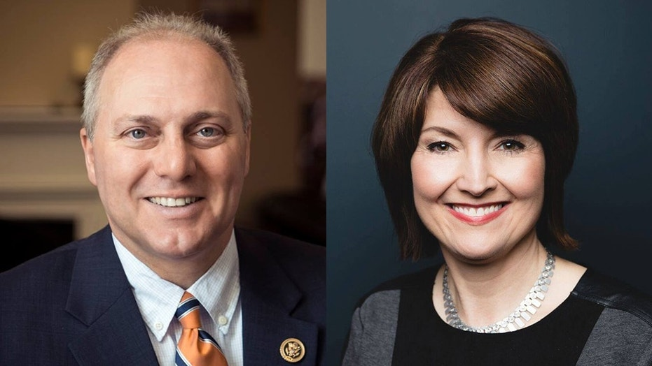 The suspect was accused of leaving threatening messages for House Majority Whip Steve Scalise and Republican Conference Chairwoman Rep. Cathy McMorris Rodgers, seen here.