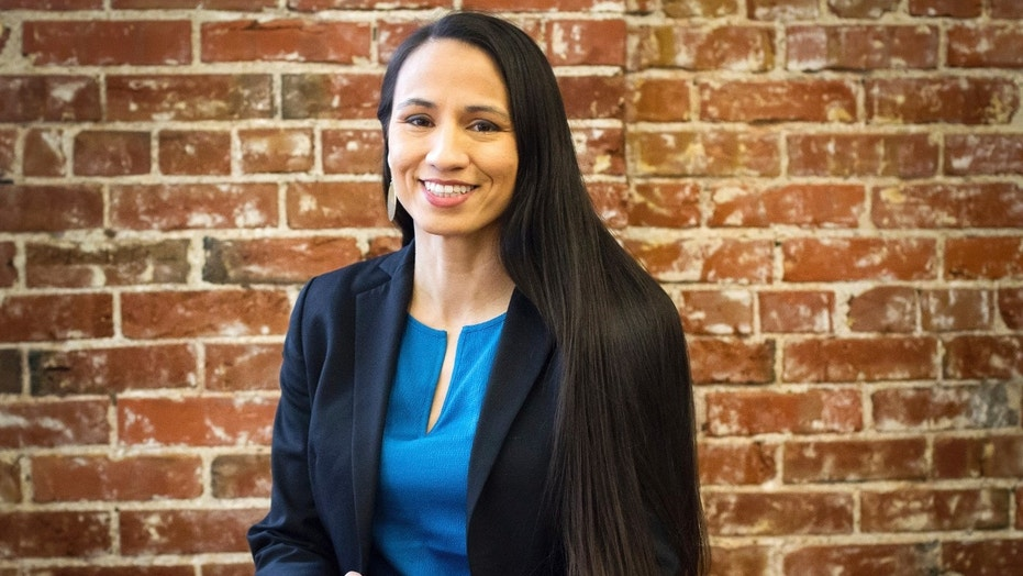 Sharice Davids became Kansas' first Native American and gay nominee for Congress after prevailing in a close six-candidate Democratic primary.