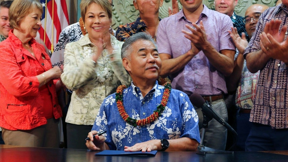 Gov. David Ige faces a tough Democratic primary race Saturday night.