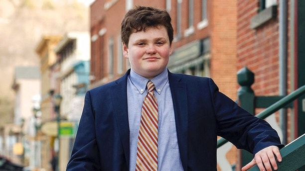 This undated photo provided by the Ethan 2018 Campaign shows Ethan Sonneborn, of Bristol, Vt., who is one of the four Vermont Democrats seeking the party nomination to run for governor in the Tuesday, Aug. 14, 2018, primary election. The state constitution doesn't have an age requirement for people seeking the state's highest office beyond having lived in the state for four years before the election. (Buzz Kuhns/Ethan 2018 Campaign via AP)