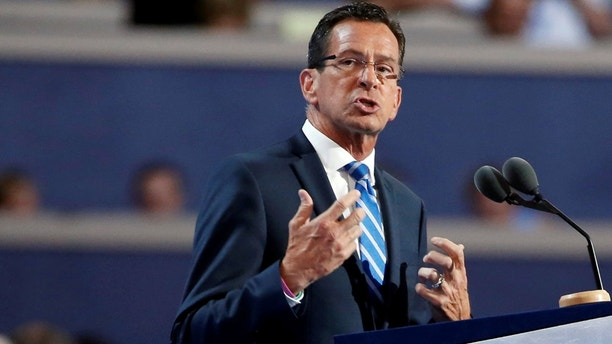 Connecticut Governor Dannel Malloy speaks at the Democratic National Convention in Philadelphia, Pennsylvania, U.S. July 25, 2016.  REUTERS/Lucy Nicholson - RC15BBA82180