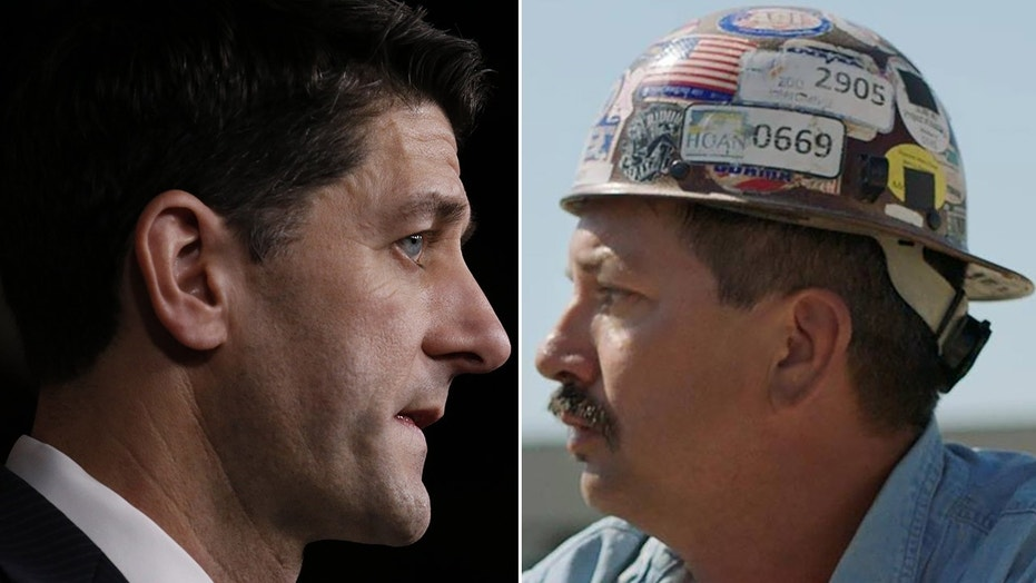 Paul Ryan, left, may be succeeded by Democrat Randy Bryce, who won Tuesday's primary in the race for his House seat.