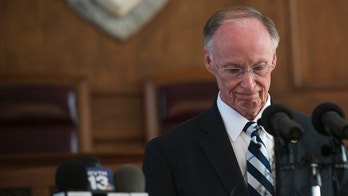 FILE - In this Monday, April 10, 2017, file photo, former Alabama Governor Robert Bentley speaks after officially resigning, in Montgomery, Ala. Bentley resigned Monday rather than face impeachment and pleaded guilty to two misdemeanor campaign violations that arose during an investigation of his alleged affair with a top aide. (Albert Cesare/The Montgomery Advertiser via AP, File)