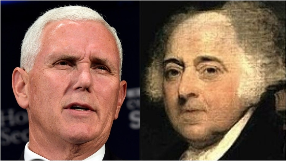 Mike Pence, left, has one lawmaker comparing him to John Adams, who paid his dues as VP (1789-1797) before becoming the nation's second president (1797-1801).