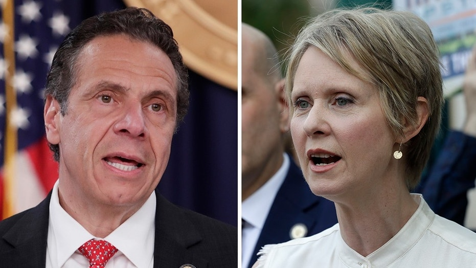 New York Gov. Andrew Cuomo squared off against opponent Cynthia Nixon Wednesday night in their race for governor ahead of the upcoming primary election to become the Democratic nominee.