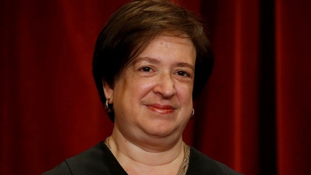 U.S. Supreme Court Justice Elena Kagan participates in taking a new family photo with her fellow justices at the Supreme Court building in Washington, D.C., U.S., June 1, 2017. REUTERS/Jonathan Ernst - RC17E9C01E10