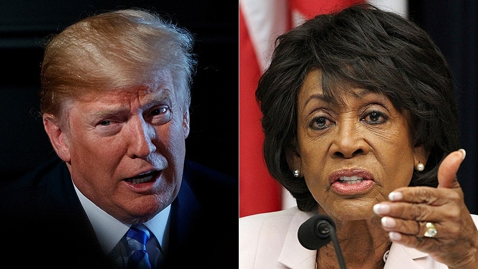 Democratic Rep. Maxine Waters escalated her rhetorical assault on President Trump over the weekend.