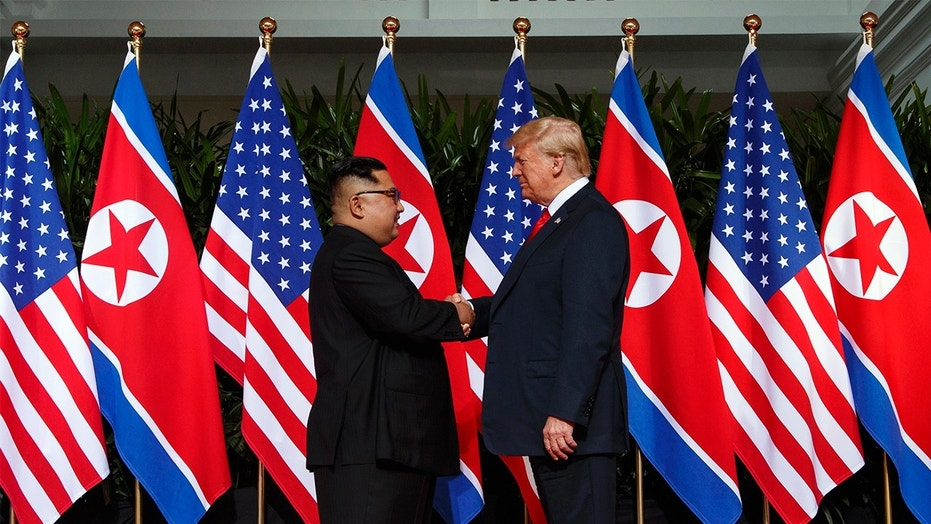 North Korean dictator Kim Jong Un and President Trump at their summit in Singapore this past June.