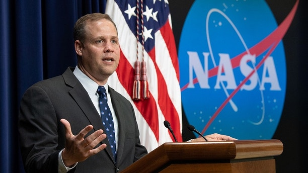 "NASA Administrator Jim Bridenstine speaks at the ""Face to Face with Our Future: A Day with Young Leaders"" event, Wednesday, June 27, 2018 at the Eisenhower Executive Office Building in Washington, DC.  Photo Credit: (NASA/Joel Kowsky)"