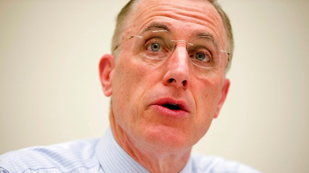 FILE - In this March 26, 2015, file photo, Rep. Tim Murphy, R-Pa. speaks on Capitol Hill in Washington. Murphy who was caught up in affair scandal, announces he plans to retire at end of his current term. (AP Photo/Andrew Harnik, File)