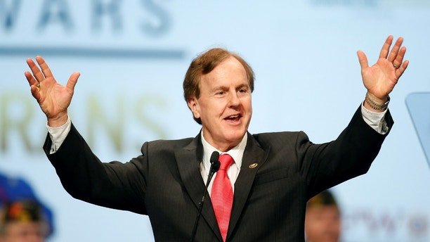 U.S. Representative Robert Pittenger speaks at the Veterans of Foreign Wars Convention in Charlotte, North Carolina July 26, 2016. REUTERS/Chris Keane - D1BETRUMUNAA