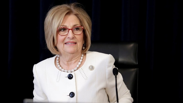 House Budget Committee Chairman Diane Black (R-TN) arrives for the markup of the American Healthcare Act on Capitol Hill in Washington, U.S., March 16, 2017.      REUTERS/Joshua Roberts - RC1F62C06E30