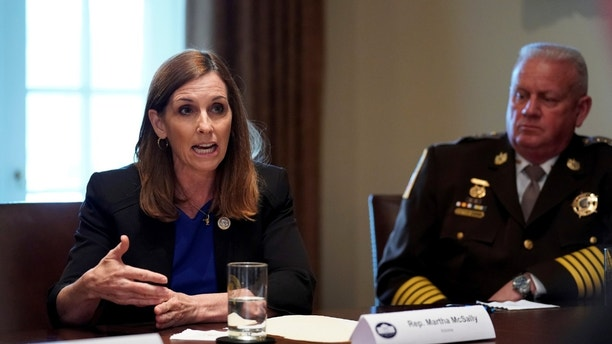 U.S. Representative Martha McSally (R-AZ) speaks during a meeting between President Donald Trump, members of Congress and U.S. law enforcement about crime and immigration issues, specifically the MS-13 gang, at the White House in Washington, U.S. February 6, 2018. REUTERS/Jonathan Ernst - RC1C0F002200