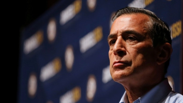 Republican Congressman Darrell Issa holds a town hall style meeting with constituents of California's 49th district in San Juan Capistrano, California, U.S., June 3, 2017. REUTERS/Mike Blake - RC1F93ACE140