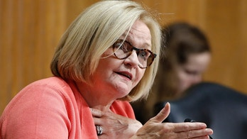 "FILE - In this June 20, 2018, file photo, Sen. Claire McCaskill, D-Mo., asks a question during a Senate Finance Committee hearing on Capitol Hill in Washington. McCaskill is holding off on taking a public stance on President Donald Trump's U.S. Supreme Court nominee. In a statement late Monday, July 9, 2018, McCaskill said she looks forward to ""thoroughly examining"" conservative Judge Brett Kavanaugh's record. She's asking supporters of her re-election campaign to fill out a survey outlining their thoughts on Trump's nominee. (AP Photo/Jacquelyn Martin, File)"