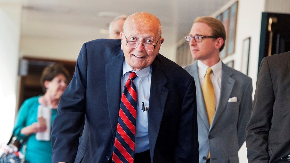"Former Rep. John Dingell suffered a heart attack Monday, but is said to be in ""good spirits."""