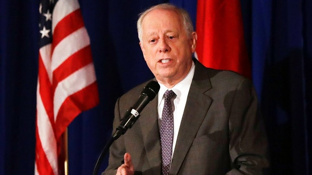 "FILE - In this Aug. 24, 2018, file photo, Democratic Senate candidate Phil Bredesen speaks at a summit on the opioid crisis in Nashville, Tenn. Bredesen said Sept. 19 that the woman accusing Supreme Court nominee Brett Kavanaugh of sexual assault ""has a very credible story."" But he said the Judiciary Committee should consider proceeding with a vote if she does not testify under oath. (AP Photo/Mark Humphrey, File)"