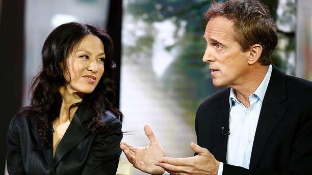 "TODAY -- Pictured: (l-r) Amy Chua and Jed Rubenfeld appear on NBC News' ""Today"" show -- (Photo by: Peter Kramer/NBC/NBC NewsWire via Getty Images)"