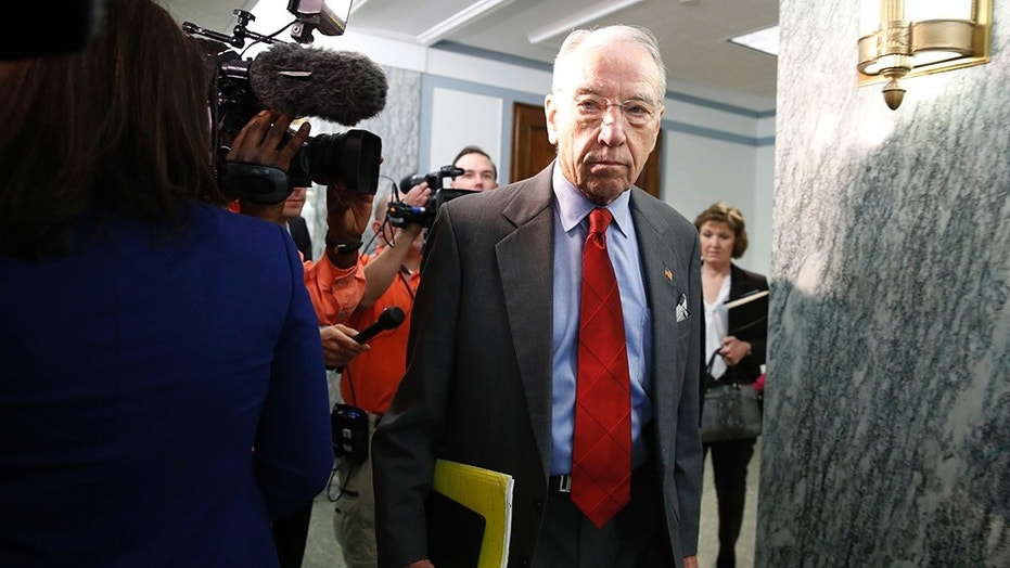 "Some staffers working in the office of Senate Judiciary Committee Chairman Chuck Grassley have been on the receiving end of a series of nasty phone calls that've included insults such as ""racist trash"" and ""a disgusting excuse for a human being"
