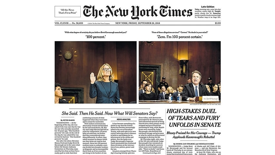 The New York Times is under fire for the photos used on Friday's cover.
