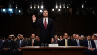 Former FBI Director James Comey is sworn in prior to testifying before a Senate Intelligence Committee hearing on Russia's alleged interference in the 2016 U.S. presidential election on Capitol Hill in Washington, U.S., June 8, 2017. REUTERS/Jonathan Ernst - RTX39NPQ