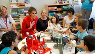 U.S. First Lady Melania Trump visits the Necker Hospital for children in Paris, France, July 13, 2017.  REUTERS/Philippe Wojazer      TPX IMAGES OF THE DAY - RTX3B8QL