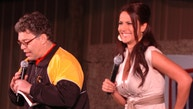CAMP ARIFJAN, Kuwait – Comedian Al Franken and sports commentator Leeann Tweeden perform a comic skit on camp Thursday in front of more than 2,000 elated servicemembers during the USO Sergeant Major of the Army's 2006 Hope and Freedom Tour. Franken and Tweeden are touring with country music singers, Darryl Worley, Mark Wills, Keni Thomas, hip-hop artists The Washington Projects and members of the Dallas Cowboy Cheerleaders. Camp Arifjan was the first show for the tour which will travel to Iraq next. Lt Gen R. Steven Whitcomb, Third Army/U.S. Army Central commander welcomed the tour to Kuwait and stressed the importance of the work being done in support of the war in Iraq.