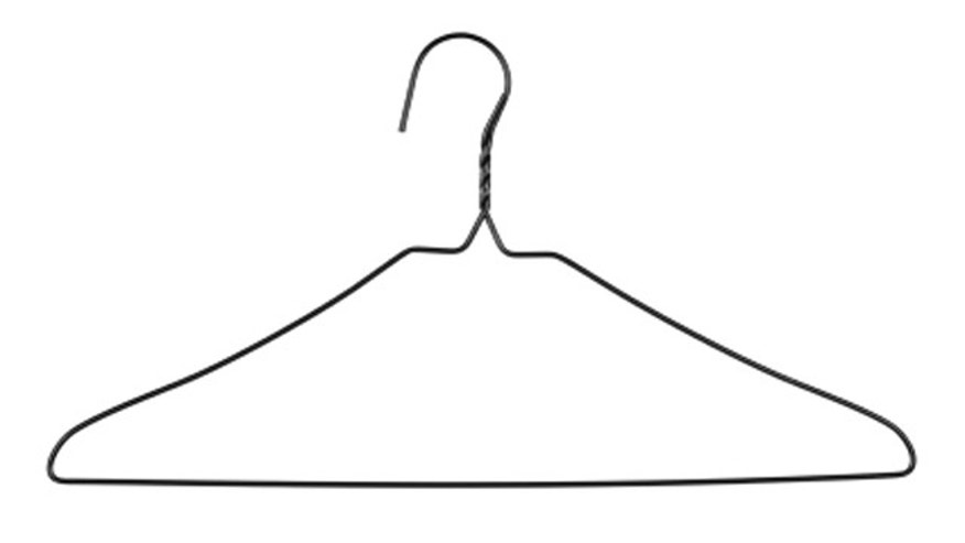 Black Wire Coat Hanger