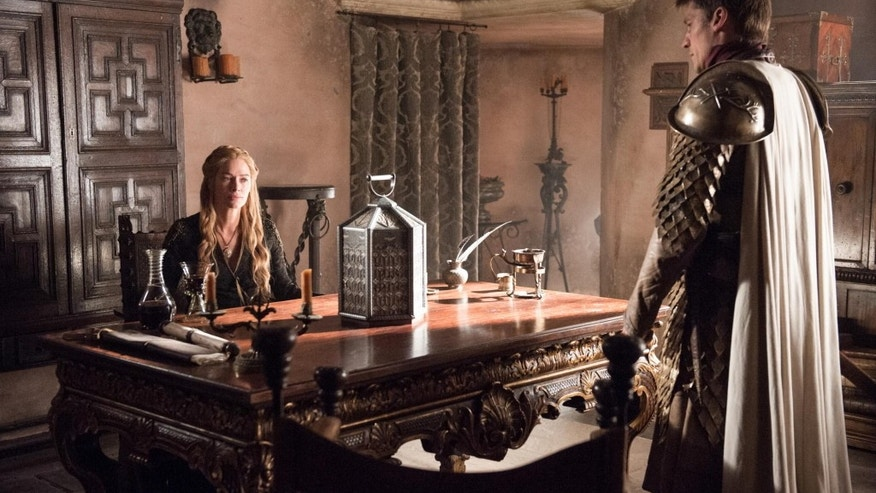 Lena Headey as Cersei Lannister and Nikolaj Coster-Waldau as Jamie Lannister. Credit: Helen Sloan/HBO