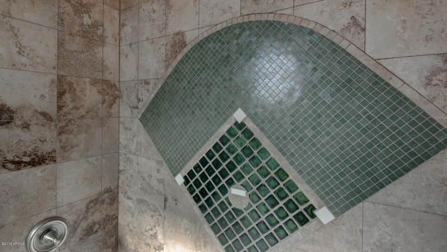 Diamond tile in shower
