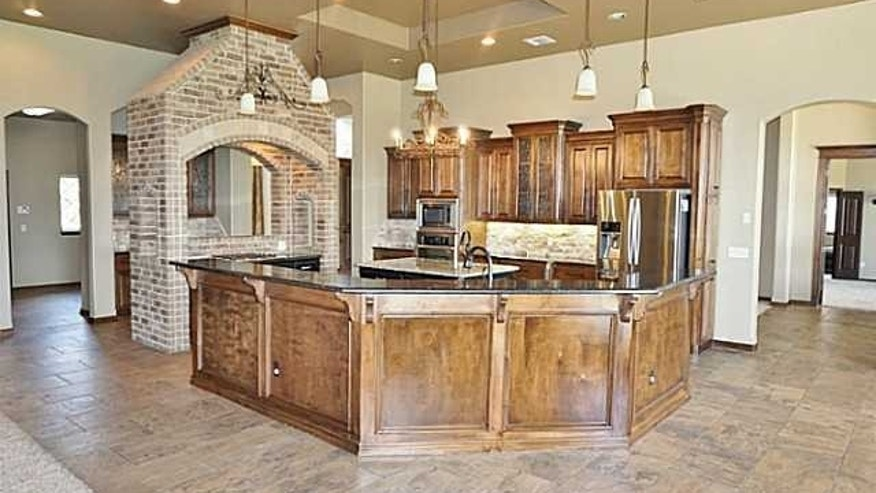The French-style kitchen.