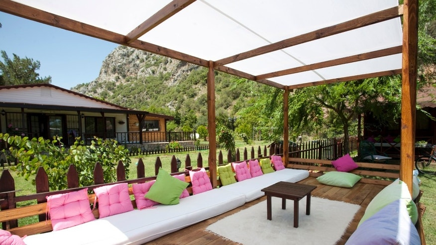 Canopied outdoor area