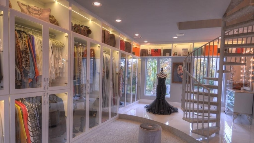A three-story closet in The Woodlands, TX.