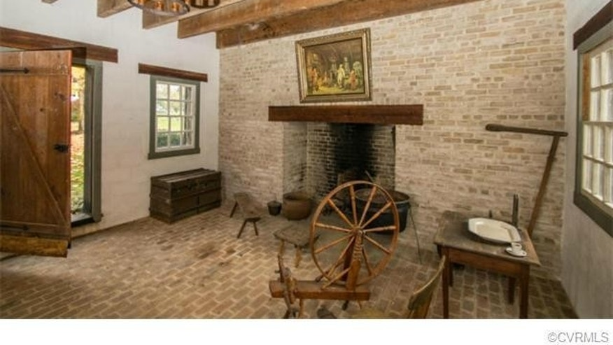 A reconstruction of a Colonial-era kitchen