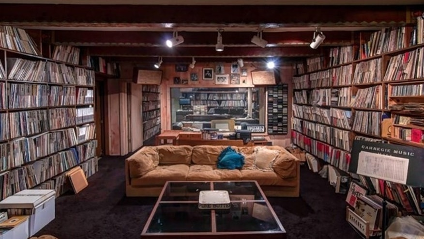 The McKuen recording studio and record collection.