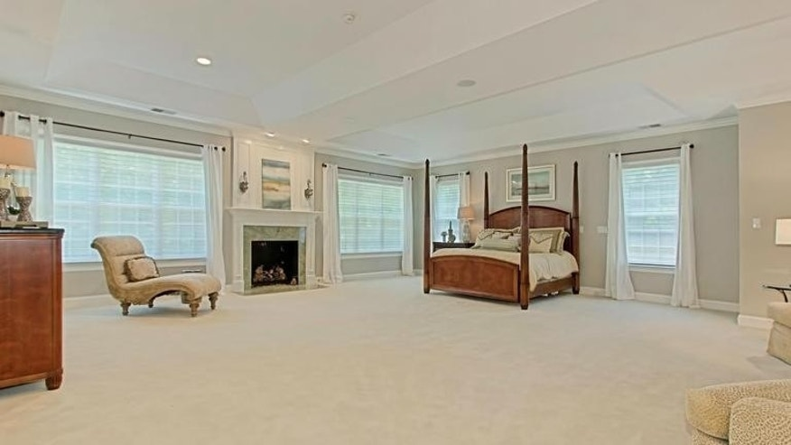 An enormous master bedroom.