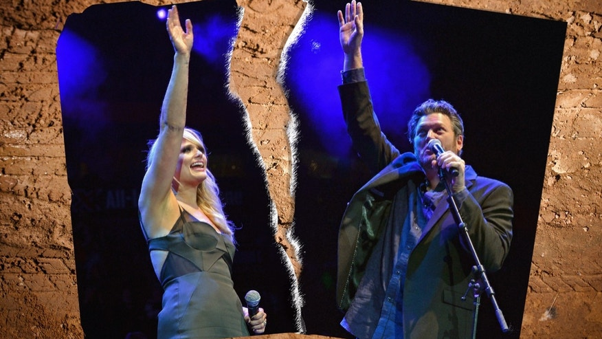 Miranda Lambert and Blake Shelton perform during Playin' Possum! The Final No Show Tribute To George Jones