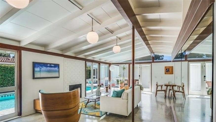 Vaulted ceilings in an original Cliff May ranch house