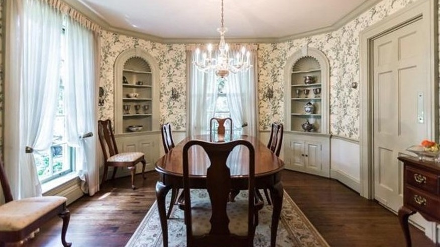 The cabinets were modeled after those in the Oval Office.