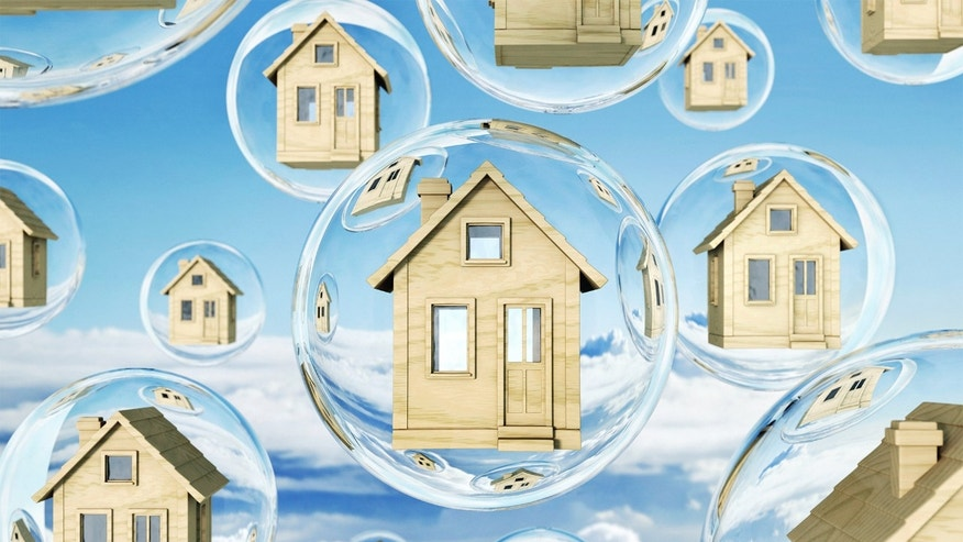 houses in bubbles